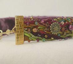 fiber art bracelet, beaded https://www.picturedashboard.com