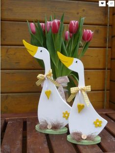 objects – Spring geese – Set – a unique product by Creative-Holz at Decorative objects - Spring geese - Set - a unique product by Creative-Holz at . Decorative objects - Spring geese - Set - a unique product by Creative-Holz at . Wooden Projects, Wood Crafts, Diy And Crafts, Craft Projects, Wooden Flowers, Wooden Animals, Wood Cutouts, Wood Creations, Wooden Hearts