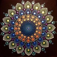 Peacock mandala. 12x12 acrylic