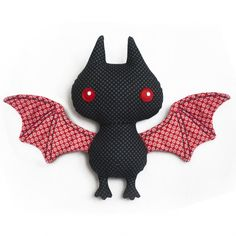 Bat Plushie sewing pattern by DIY Fluffies