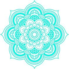 DETAILED MANDALA DESIGN BLACK WHITE Vinyl Decal Sticker Two in One Pack (4 Inches Wide)