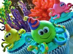 Octopus Cupcakes By ALetter on CakeCentral.com