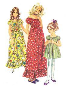 Vintage Girls Peasant Dress Pattern Boho 1970s by alchemy2 on Etsy, $7.00
