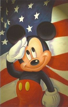 Your WDW Store - Disney Postcard - Americana Mickey Mouse Disney Kunst, Arte Disney, Disney Magic, Disney Art, Minnie Mouse, Mickey Mouse And Friends, Mickey Mouse Cartoon, Mouse Ears, Mickey Mouse Pictures