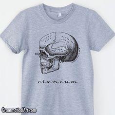 Womens Skull Shirt Vintage Anatomy T-Shirt Anatomy Shirt Science Shirt Biology Shirt Graduation Medical School Gift Science Geekery Shirts