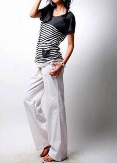 Trying to find inspiration for my new white linen pants. At least I know everyone else's wrinkle too.
