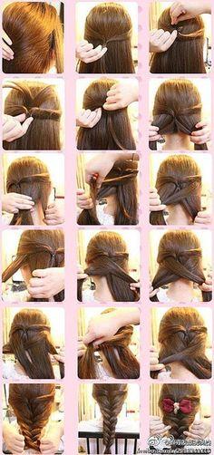 hair styles for long hair: Hair Ideas, Hairstyles, Hair Styles, Long Hair, Beauty Good Hair Day, Love Hair, Diy Braids, Tips Belleza, Up Girl, About Hair, Brazilian Hair, Hair Dos, Hair Designs