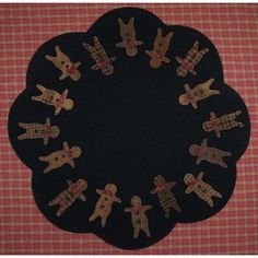 Primitive Gatherings - Ginger Boys Table Mat Kit by TheFabricAsylum on Etsy https://www.etsy.com/listing/241473470/primitive-gatherings-ginger-boys-table