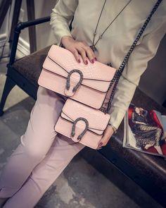 wowen s fashion bag Handbags snake leather embossed fashion Women bag  chain Designer Messenger Bags, 21e4929151