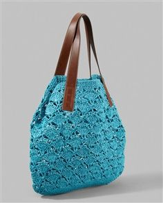 crocheted bag,if you feel lazy and don't want to make it