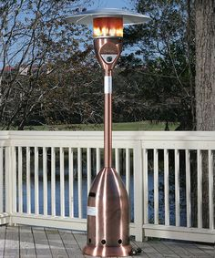 Take a look at this Tall Copper Patio Heater by Fire Sense on #zulily today!