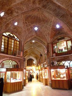 Jewelery market in Bazaar of Tabriz, Iran