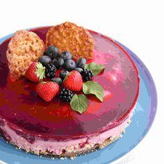 mascarponetaart met bramen en frambozen Cake Cookies, Cupcake Cakes, Cupcakes, Dessert Drinks, Pie Dessert, Bake My Cake, Baking Bad, Sweet Pie, Love Food