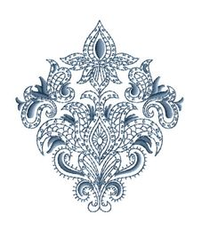 "ABC Designs Paisley Motifs Machine Embroidery Designs SET 5""X7"" Hoop   eBay"