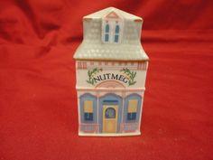 Lenox Spice Village Victorian House Nutmeg Jar Porcelain 1989 Free Shipping | eBay