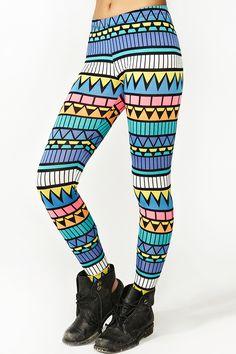 Neon Aztec Leggings