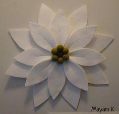 Felted flower for door