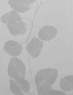 Blue/Liac Leaf wallpaper by Jocelyn Warner - Grey JWP-203