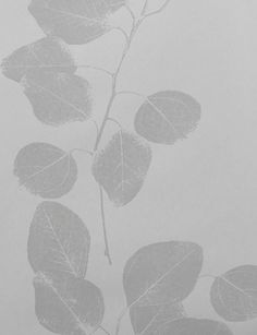 Blue/Liac Leaf wallpaper by Jocelyn Warner - Grey JWP-203