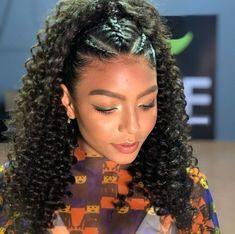 Natural Hair Braids, Curly Hair With Bangs, Curly Hair Styles, Natural Hair Styles, Mixed Curly Hair, Cute Curly Hairstyles, Baddie Hairstyles, Girl Hairstyles, Birthday Hairstyles