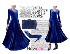 """""""#newchic A Long Sleeve Maxi Dress - 10112016"""" by filmaandry on Polyvore featuring Roger Vivier, Serpui, chic, New and newchic"""