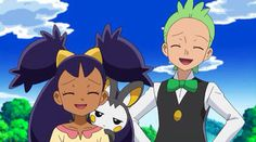 Iris, Cilan, and Emolga! I give GOOD credit to whoever created this!!