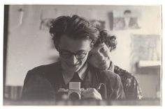 """piekna-epoka: """" Andrzej Wróblewski - Autoportret z żoną, maj 1954 """""""
