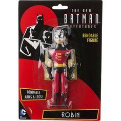 DC Comics The New Batman Adventures Robin Bendable Figure, Multicolor