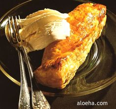 Bananas In Puff Pastry And Vanilla Ice Cream