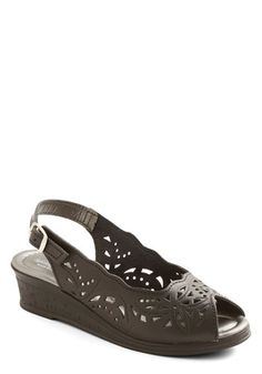 Stenciling You In Wedge in Black, #ModCloth