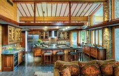 A Frank Lloyd Wright-Inspired Kitchen - Old-House Online | kitchen design | Scoop.it