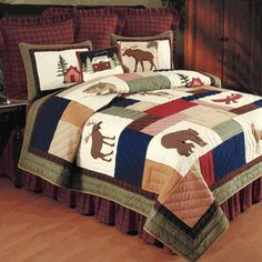 Check out the deal on Greenwood Springs Quilt Sets at Cabin Place Design Rustique, Style Rustique, Rustic Design, Bedroom Sets, Home Bedroom, Bedroom Decor, Rustic Bedding Sets, Unique Bedding, Contemporary Rustic Decor