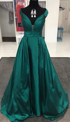 Dark Green Prom Dress,Long Prom Dresses,Charming Prom Dresses,Evening Dress, Prom Gowns, Formal Women Dress,prom dress