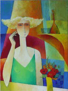 """Françoise Collandre (Paris, 1939) """"Madame aime les Coquelicots"""""""