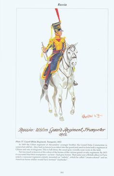 Russia: Plate 37. Guard Uhlan Regiment, Trumpeter, 1812