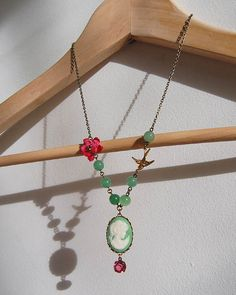 Green Cameo Neclace