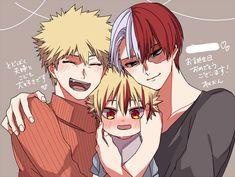 Todoroki shouto x Bakugou katsuki #todobaku #bakutodo #family♡