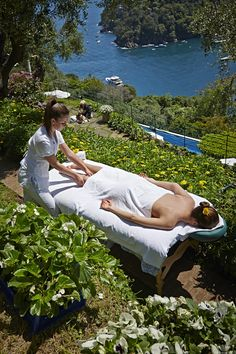 ღღ Relaxing in Splendido Spa, Portofino, Italy. yes, please!!