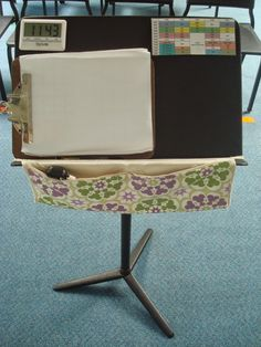 Organized Chaos: Teacher Tuesday: teacher music stand organization- ideas to organize all the stuff you need when you're teaching!