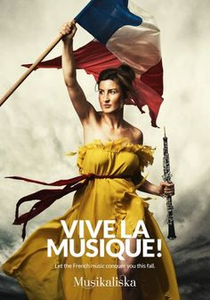 Let the French music conquer you this fall.    Advertising Agency: A Perfect World, Stockholm, Sweden  Creative Director: Pia Högberg  Art Directors: Johan Gustafsson, Peder Anzén  Copywriter: Åsa Österlund  Photographer: RBLS