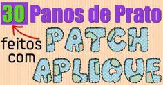 30 Panos de Prato com Patch aplique