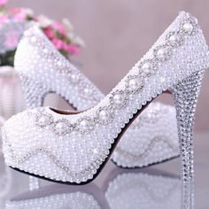 Sparkly high heels Bling wedding shoes Crystal by PhoneCasesWish, $158.00