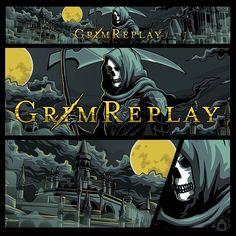 GrimReplay by Angga Tantama on Dribbble Gaming Banner, Teamwork, Streamers, Cyber, Symbols, Concept, Cartoon, Photo And Video, Illustration