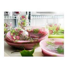 IDEELL Mug, pink, green - IKEA