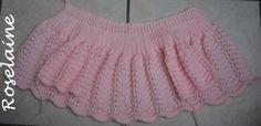 Roselaine tricot brassière point vagues 1 Boho Shorts, Lace Shorts, Dire, Baby Sweaters, Voici, Princesses, Couture, Women, Fashion