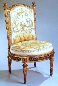 """Chair from the Belvédère du Petit Trianon music salon built for Marie Antoinette on a small artificial hill at Trianon, part of the new """"English"""" garden on the estate."""