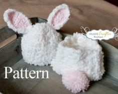 Bunny Hat Pattern Crochet Diaper Cover Pattern Newborn Hat