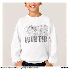 Winter Grass In Snow Sweatshirt