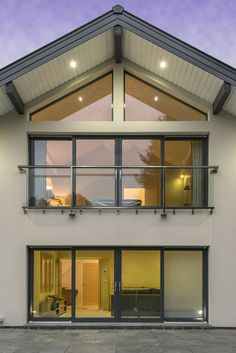 A close up of our modern minimalist glass juliet balcony on our Adelia show home