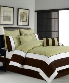 594390983ad Take a look at this Sage   Chocolate Aspen Hotel Comforter Set on zulily  today!